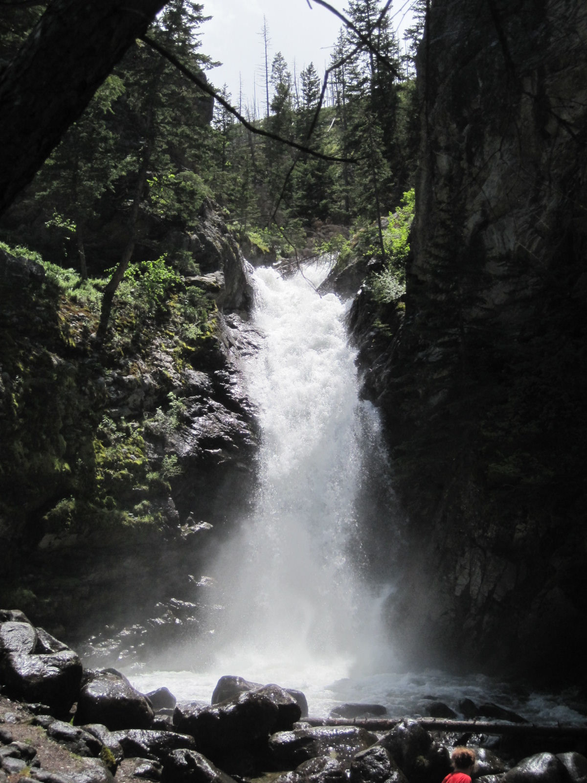 A hidden waterfall in South Central Montana